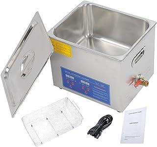 Tdrforce professionnel Commercial nettoyeur à ultrasons nettoyeur à ultrasons pour nettoyer Bijoux Lunettes de voiture Carburateur ect Grande contenance chauffé nettoyeur à ultrasons (6L)