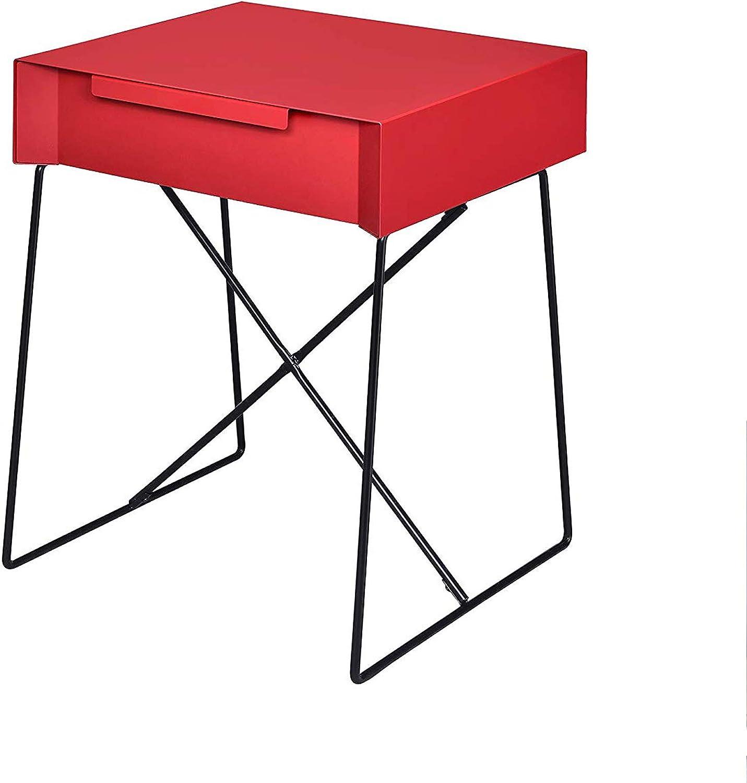 Benzara BM154613 Gualacao End Table Red