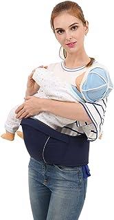 抱っこひも ベビー ウエストキャリー ヒップシート ベビーキャリー 赤ちゃん 調整可 軽量パッド入 腰負担軽減 メッシュ 素材 対面抱き 前向き抱き 腰抱き 横抱き 4way(新生児~3歳まで) (ネイビー)