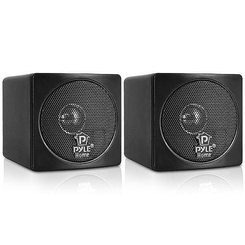 Charmant Pyle Home PCB3BK 3 Inch 100 Watt Mini Cube Bookshelf Speakers   Pair (