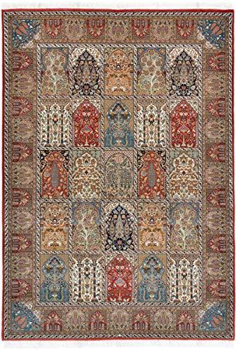Nain Trading Indo Ghom 242x172 Orientteppich Teppich Braun Handgeknüpft Indien