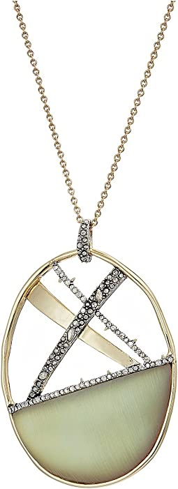 Alexis Bittar - Crystal Encrusted Plaid Long Pendant Necklace