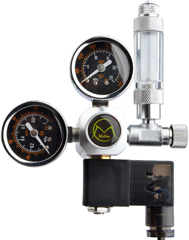 POPETPOP Heavy Duty Adjustable Stainless Steel Water Pressure Reducing Regulator Valves Electromagnetic Pressure Gauge