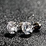 6 Paires 18G Boucles d'Oreilles en Acier Inoxydable Zircone Cubique Cartilage Oreille Hélix Piercings de Barbell Tragus… 10 Bijoutier Boutique 6 paires de boucles d'oreilles: est livré avec 6 paires de boucles d'oreilles couleur argent en 6 tailles différentes, 3 mm - 8 mm sont disponibles, chaque taille pour 1 paire, plus de choix pour un usage quotidien Caractéristiques: en acier inoxydable 316L, solide et durable, anti-rouille et ternir la résistance; Chaque boucle d'oreille polie dispose d'une pierre précieuse de zircone cubique scintillante Taille d'usage: calibre 18 (1 mm), longueur de barre portable de 6 mm, extrémité plate de 5 mm, taille commune pour s'adapter facilement à votre oreille; Convient pour le perçage des oreilles, convient également pour l'hélice, le piercing tragus
