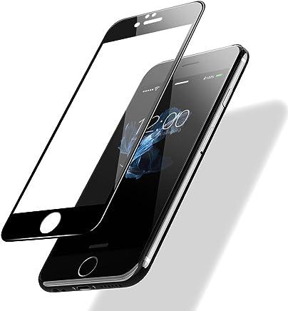 POSUGEAR iPhone 6/ 6s Templado Protector de Pantalla, 3D Negro Pantalla Completa Cristal Templado Pantalla Protectora [9H Dureza] [Anti BLU Ray] [3D Touch Compatibles] - Negro