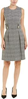 Anne Klein womens HOUNDSTOOTH CHECK FIT AND FLARE DRESS Dress