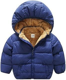 TAIYCYXGAN Baby Boys Girls Winter Puffer Coat Unisex Kids Fleece Lined Jacket Hoodies Warm Outwear Overcoat