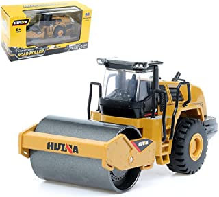 Geminismart Famous in-Home Learning Brand 1/50 Scale Metal Diecast Articulated Dump Truck Road Roller Engineering Vehicle Construction Alloy Models Toys for Kids and Decoration for House(Road Roller)