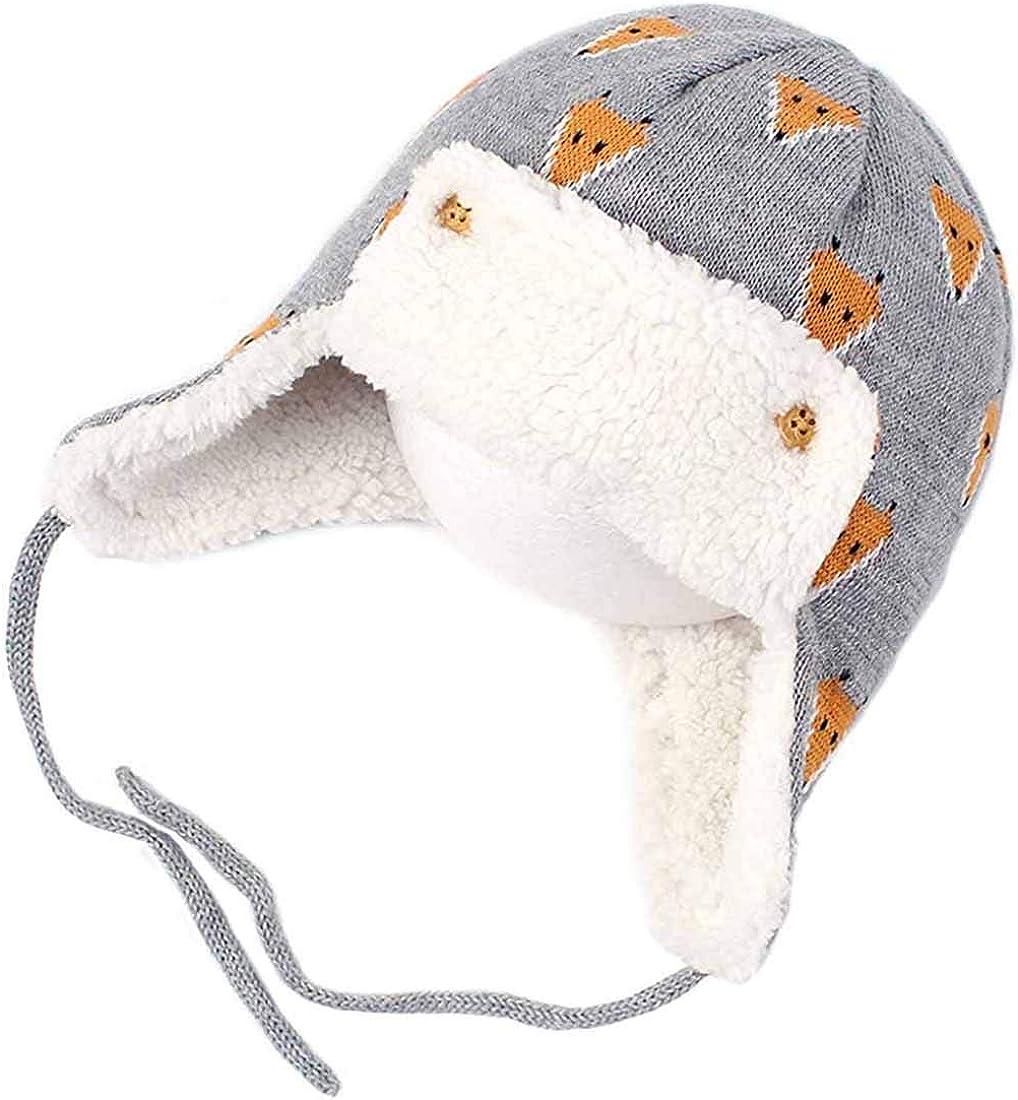 Yixda Bonnet dhiver unisexe pour b/éb/é avec cache-oreilles