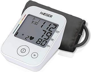 HAEGER DIGI HEART - Tensiómetro - circunferencia del brazalete: 22cm - 30cm, detección de arritmia cardíaca, clasificación de nivel de presión arterial, bolsa para el almacenamiento
