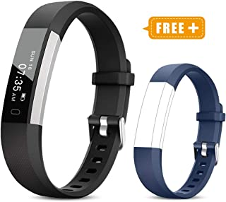 Fitness Activity Tracker Watch for Kids Women Men, Pedometer, Calorie Counter, IP67 Waterproof Step Counter Watch with Sleep Monitor and Vibrating Alarm Clock (2019 New Edition)