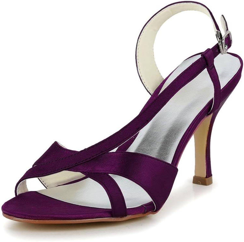 Jia Jia Women's Bridal 1415 Peep Toe Hight Heel Satin Wedding shoes