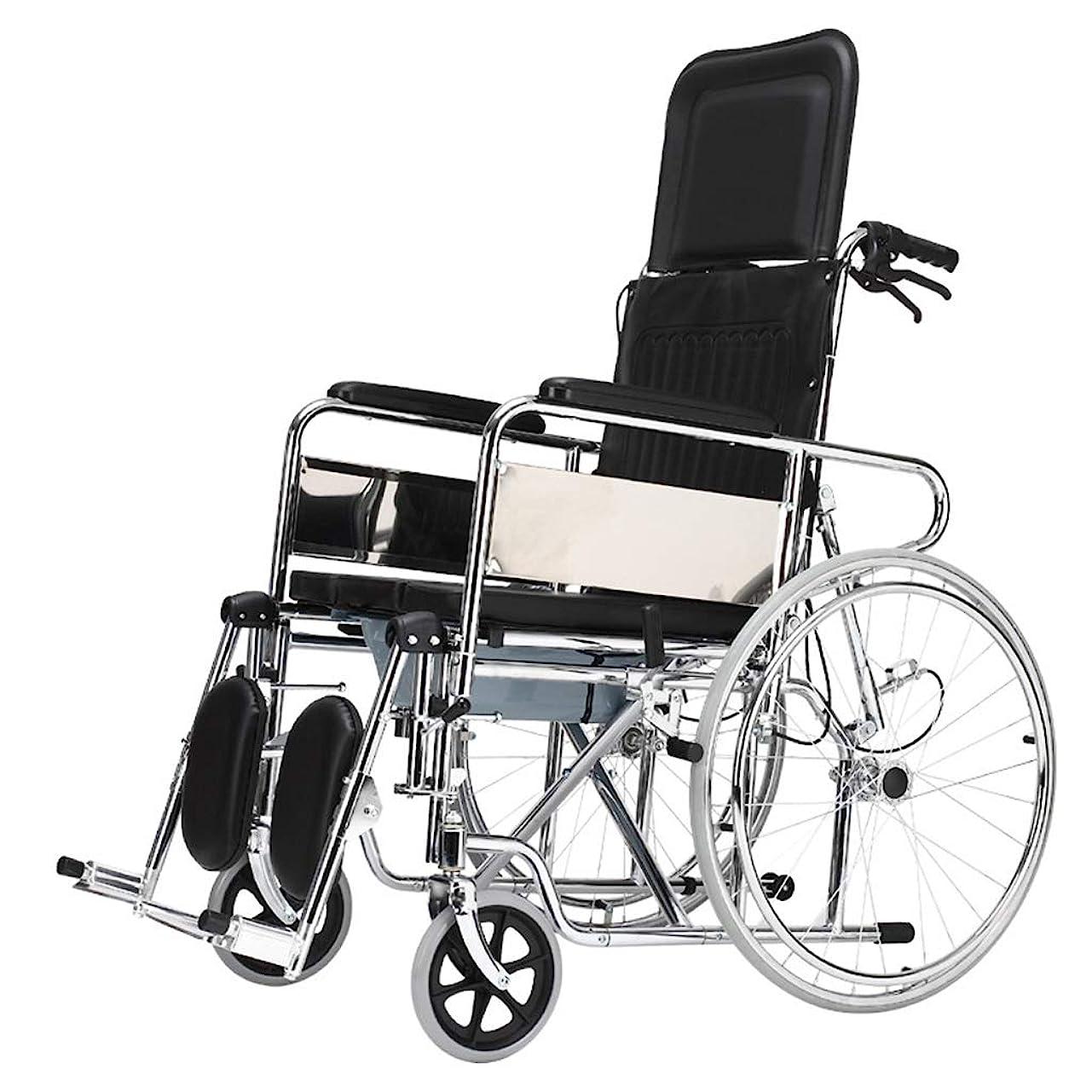 著作権プロフェッショナルバスタブ車椅子トロリー屋外旅行パートナー、多機能フルレイ/セミライニングデザイン、高齢者障害者車椅子