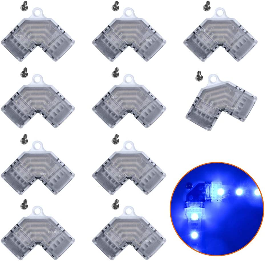 Cheap sale 90 Degree Corner 4 Pin L Shape 10mm Connector RGB LED It is very popular for Strip