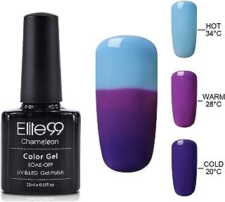 Elite99 Thermal Temperature Color Changing Gel Nail Polish Soak Off UV LED Nail Lacquer Manicure Nail Art 10ML - 4222