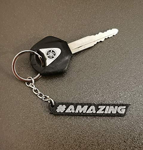 Personalisierter Wunschtext Schlüsselanhänger 3D Druck für Auto Motorrad und Haushalt …