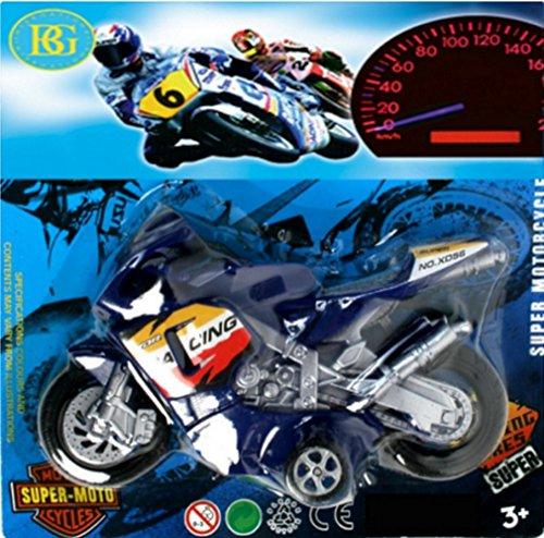 1 GRANDE MOTO DE COURSE A FRICTION 16 X 10 CM JOUET