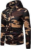iLXHD Mens Casual Pocket Camouflage Long Sleeve Pullover Sweatshirt Hoodie Coat