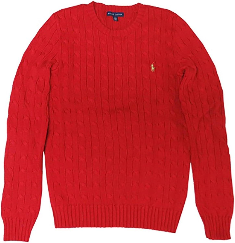 Ralph Lauren Women's Sport Sweater Fall Red (Large)