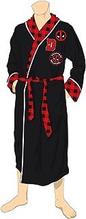 Marvel Comic Deadpool Plush Bathrobe Robe Black House Coat Adult Mens SM-XL 7f13964b7