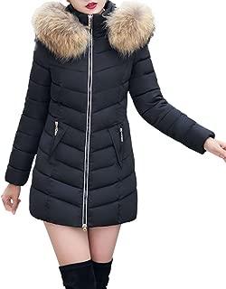 JESPER Fashion Winter Women Puffer Jacket Long Thick Warm Slim Coat Removable Hooded