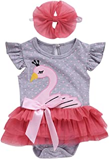 Little Girls Summer Bikini Sets,Jchen Baby Kids Girls Swimsuits Ruffles Cartoon Swan One-Piece Swimwear Swimsuit Bikini