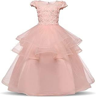 Surprise S 6-14 Years Girls Evening Party Dress Wedding Costume Girl Dress Elegant Flower Princess
