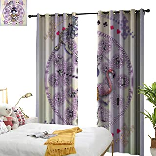 Superlucky Animal,Decorative Curtains for Living Room,Alice in Wonderland Rabbit and Cat Fiction Story Novel Child Display Story,W72 xL84,Suitable for Bedroom Living Room Study, etc.