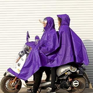 HYBAUDP Raincoat Poncho Set Men Women Raincoat - Motorcycle Rain Hoodie Jacket Windproof Waterproof Cover Cape Poncho Rainwear Full Protection (Color : Purple)