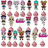 SHANFAA 20 Pezzi Double Face LOL Toppers per Torta di Compleanno , Cupcake Toppers, Simpatici Personaggi dei Cartoni Animati Decorazione Torta Festa di Compleanno (10 Modelli)