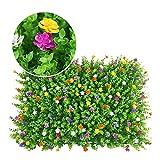 Shiwaki 60x40cm (23,62'x15,75) Simulazione di Parete vegetale Verde Parete vegetale Decorazione della casa Sfondo Muro di Fiori-Plus Fiore eucalipto