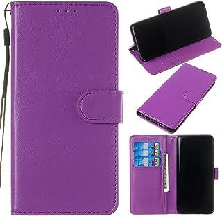 Capa carteira de couro PU premium de cor sólida clássica flip da XYX para Samsung Galaxy S6 G920 (roxa)