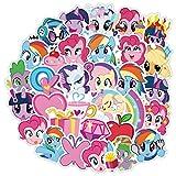BUCUO My Little Pony Pink Cute Girl Stickers Maleta Trolley Maleta Skateboard Guitar Notebook Sticker