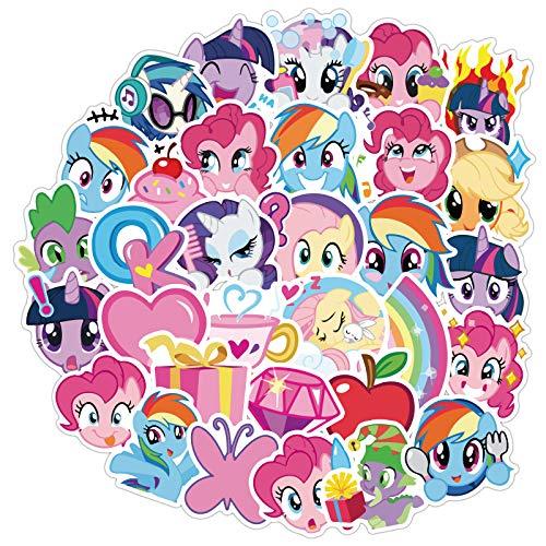 BUCUO My Little Pony Pink Cute Girl Stickers Valigia Trolley Valigia Skateboard Chitarra Notebook Sticker