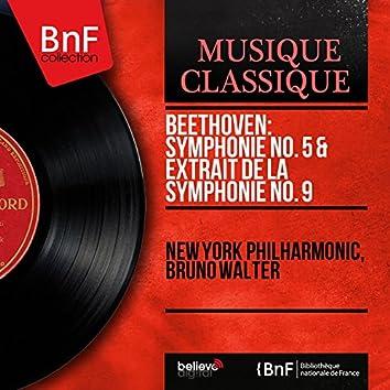 Beethoven: Symphonie No. 5 & Extrait de la Symphonie No. 9 (Mono Version)
