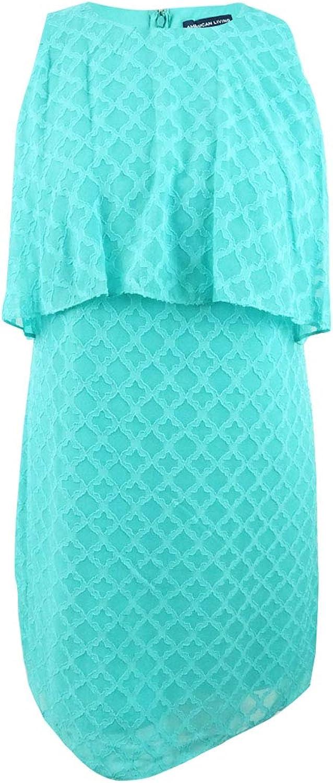 American Living Womens Ruffled Sleeveless Casual Dress