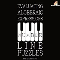 Evaluating Algebraic Expressions: Number Line Puzzles - Fractions
