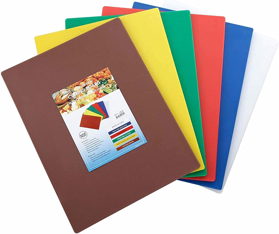 Winco CBST 1520 Cutting Board Set 15 Inch By 20 Inch By 1 2 Inch Assorted Colors