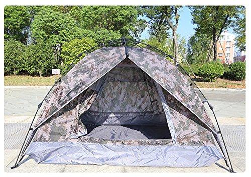HONEYY Recreación al Aire Libre Camping Camuflaje litera 3-4 Tiendas Outdoor excursión de Pesca de Carpa portátil automáticamente 82 * 19 * 20cm.