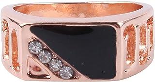 MDTBB خواتم الرجال مربعة كلاسيكية للرجال خاتم المفصل المفصل المفصل للرجال أنيقة خواتم واسعة جدا، 16.5 مم