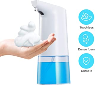 Geekper Automatic Soap Dispenser, 11.8oz/350ml Touchless Foaming Soap Dispenser New Version Hand Free Smart Liquid Dispenser with Infrared Motion Sensor, Battery Operated and Upgraded Waterproof Base