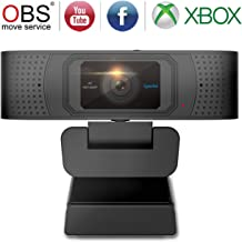 HD Webcam with Privacy Shutter 1080P Streaming Camera Autofocus USB Computer Camera Skype Xbox OBS Webcam with Dual Microphones Desktop or Laptop Webcam