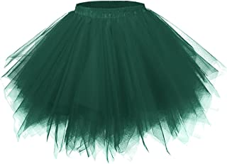GirstunmBrand Gonna da donna vintage anni '50, in tulle, multicolore