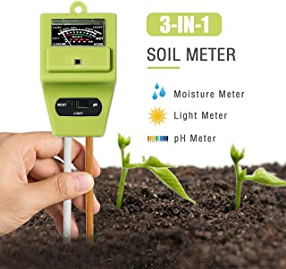 JeahoreKy Soil pH Meter, 3-in-1 Soil Test Kits with Moisture,Light and PH Tester for Plants, Garden, Farm, Lawn, Indoor & Outdoor (No Battery Needed)
