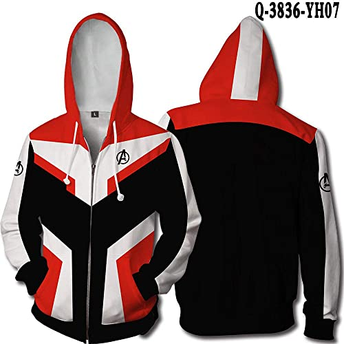 GYK Boutique Sweat à Capuche, Sweatshirt Union 4 Pull 3D Bataille Quantum Battle Concept @ B Style_S