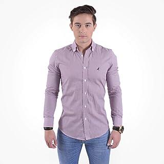 Camisa Social Masculina Slim Xadrez Fucsia 100220