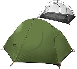Camping Carpa Ultraligera Individual Capa Doble Montar en el Exterior Carpa Impermeable contra el Agua Tormenta para excursiones de Auto-conducción Mochilero NH18A095-D20D