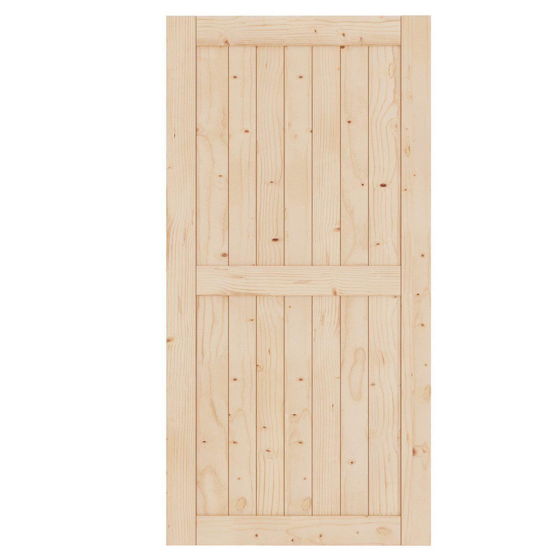 Fit 8FT Rail FREDBECK Sliding Barn Wood Door Slab DIY Unfinished Door 42in x 84in