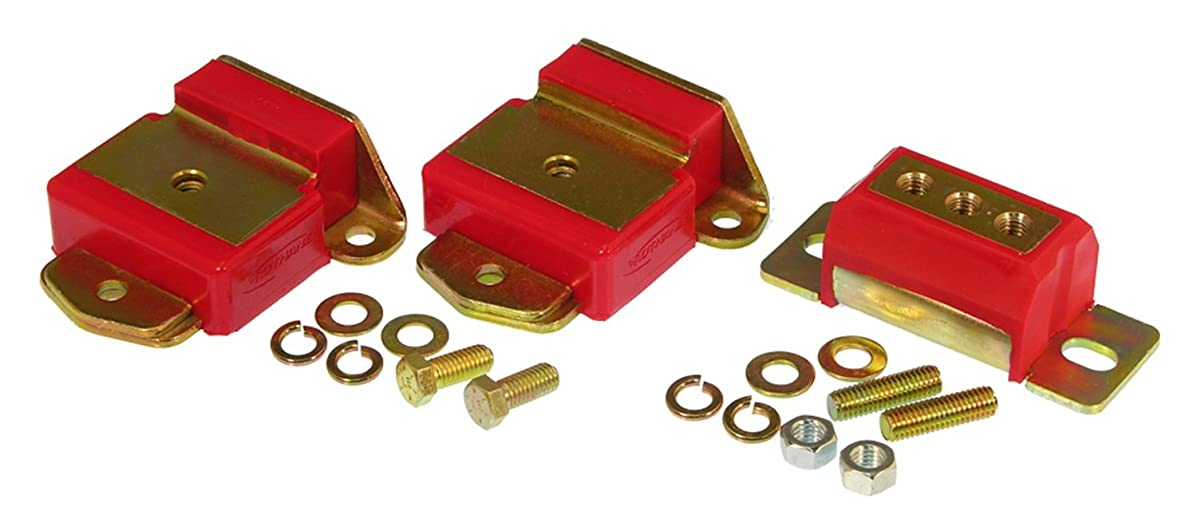 Prothane 7-1907 Red Motor and Transmission Mount Kit