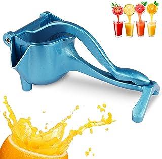 RAINBEAN Manual Juicer, Hand Press Fruit Squeezer, Heavy Duty Lemon Metal Aluminum Alloy Squeezer,Blue